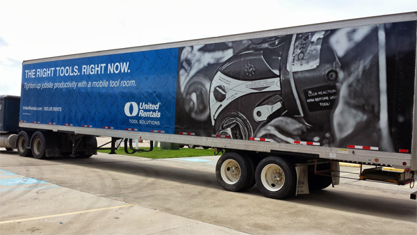 United rentals tractor trailer wrap