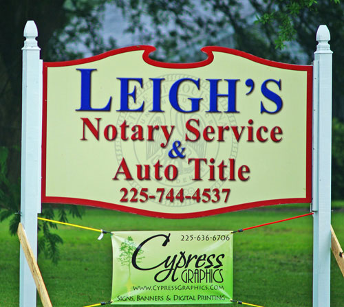 Leigh's Notary MDO SIGN