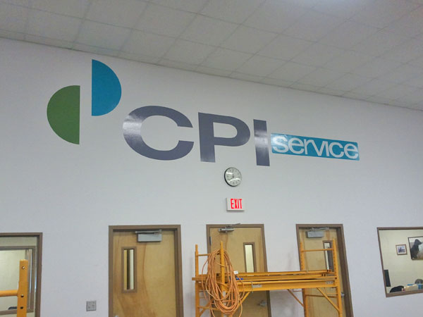 CPI Wall Mural letters