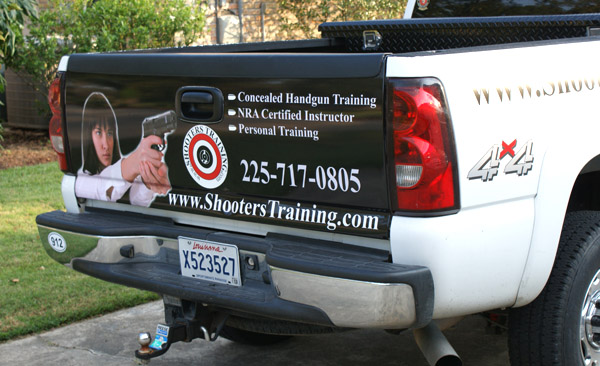 shooters training tailgate wrap